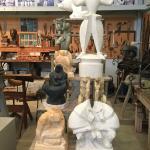 The sculptor's workshop