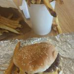 Cheese burger and reg fries