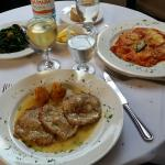 Ravioli and Veal Scaloppini
