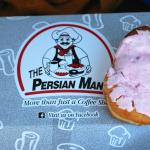 Famous Persian  Donut with pink icing.