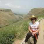 The view from the Arbel ridge on the way to the cliff