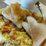 Grist Mill eggs, toast, hashbrowns, coffee