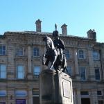 Statue of a local historic personage