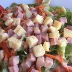 Salade composé au fromage de la région ;)