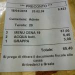 "Conto formula ""All you can eat"" per 3 persone (+bevande)"