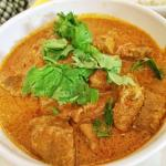 Indian style curry with lamb