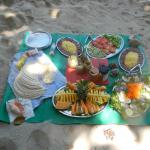 Fresh and tasty picnic lunch on our Dunk Island day trip.