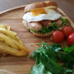 Pork Sausage & Fried Egg Sandwich