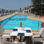 Closed off pool, it was frowned upon to use this pool, not sure if it's just for show!
