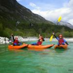 White water kayaking on the river Soca :)