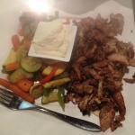 Chicken shawarma, no rice, extra veggies