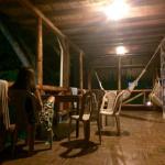 Hamacas paraguayas en la puerta de las habitaciones.