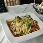 Thai noodles with beef and shrimp.. Just too good..
