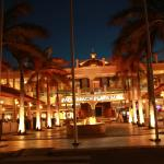 Palm Beach Plaza Mall at Night, nice ambiance, movie excellent restaurants, entreatment for ever