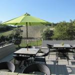 AronHill patio overlooking the vineyuards