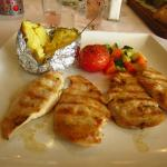 Grilled chicken cooked to perfection - and gluten free