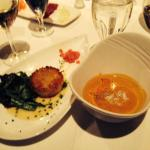 Lobster Bisque and Crab Cake- Yum!!