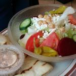 Greek Salad at Leo's Coney Island Ypsilanti, MI
