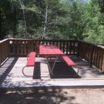 Deck outside cabin