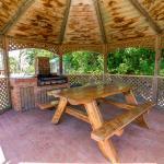 Garden setting BBQ area