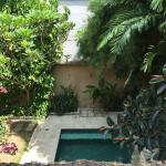 The pool view from main bedroom