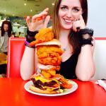 My Girlfriend ordered a Giant Jacks burger.