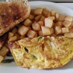 Omelette asperge jambon et fromage suisse