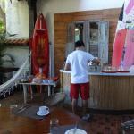 En la galería donde se servía el desayuno