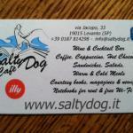 The Salty Dog Café business card.