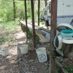 Carolina Emerald Mine - sluicing trough