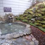 Women's outdoor onsen bath