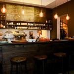 Bar area with kitchen veiw