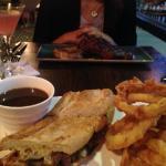 Steak sandwich and house steak.