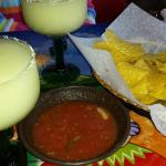 Margaritas and chips and salsa, very nice!