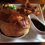 HUGE steak & stout pie!