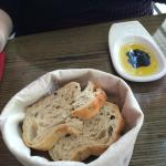 Bread and oil provided as appetiser
