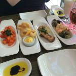 Selection of the tapas dishes