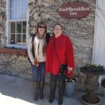 Dear friend Kim and I in front of Statecoach Inn