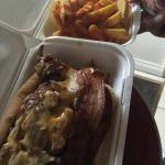 Ricks hot dog and chips very tasty
