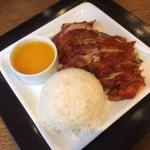 Crispy duck with orange sauce
