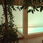 Patio piscine nuit