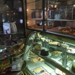 Display cases for Deli items, breads, desserts