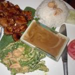 одно из блюд, заказанное нами (курица с рисом в ореховом соусе)