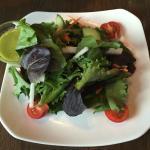 Field greens with cilantro vinaigrette.