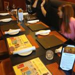 Our very busy and long table! Prairie Ink Restaurant  |  1120 Grant Avenue, Winnipeg, Manitoba R