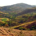 multi-colored hillsides