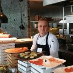 The Italian chef, Roberto