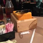 Giant block of cheese, a free appetizer!