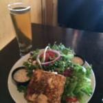 Blonde Pilsner and make-your-own salmon salad