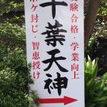 千葉神社境内にある千葉天神。学問の神様だがボケ防止のご利益もあるらしい。